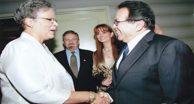 Atique Rahman with P.M. of Haiti